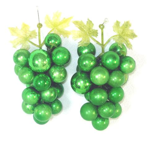 decorative green glass grape clusters from coppertonlane