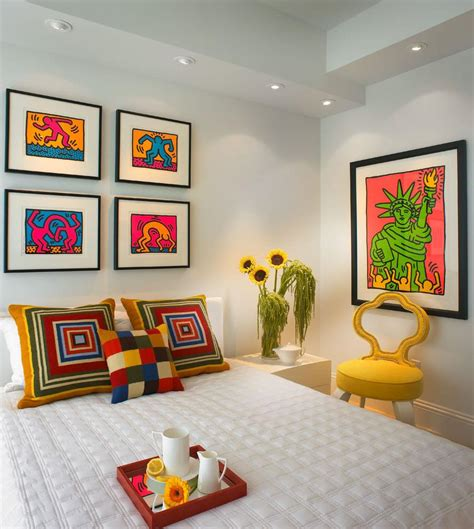 awesome small bedroom  pop art style interior idea