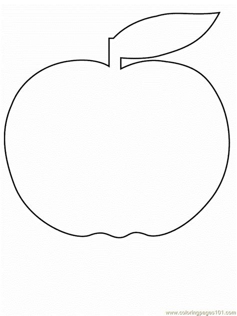 apple coloring page  simple shapes coloring pages coloringpagescom