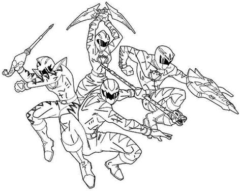 Power Rangers Coloring Pages Free Printable Orango