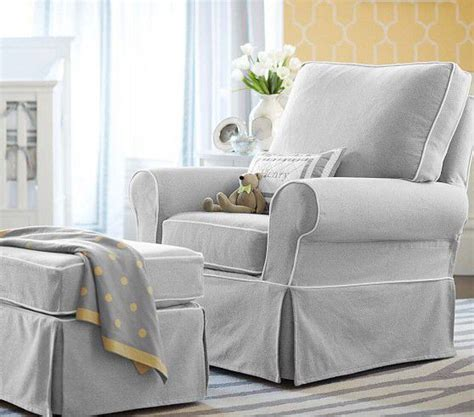 chairs nursery swivel rocking chair with ottoman
