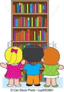 Library Bookshelf Clip Art Kids