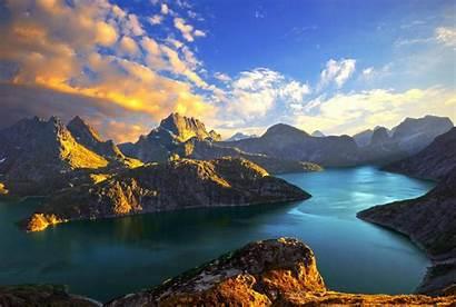 Norway Background Sunset Fjords Mountain Lake Mountains