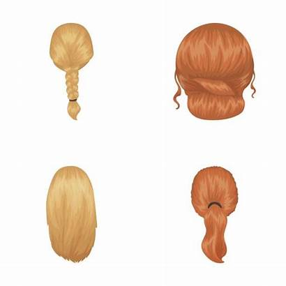 Pigtails Hairstyle Hairstyles Vector Cartoon Illustrations Braid