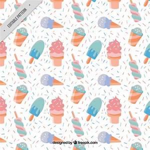 Des Couleurs Pastel : hand drawn motif glaces dans des couleurs pastel t l charger des vecteurs gratuitement ~ Voncanada.com Idées de Décoration