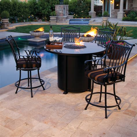 fire pit bar table bar height fire pit table
