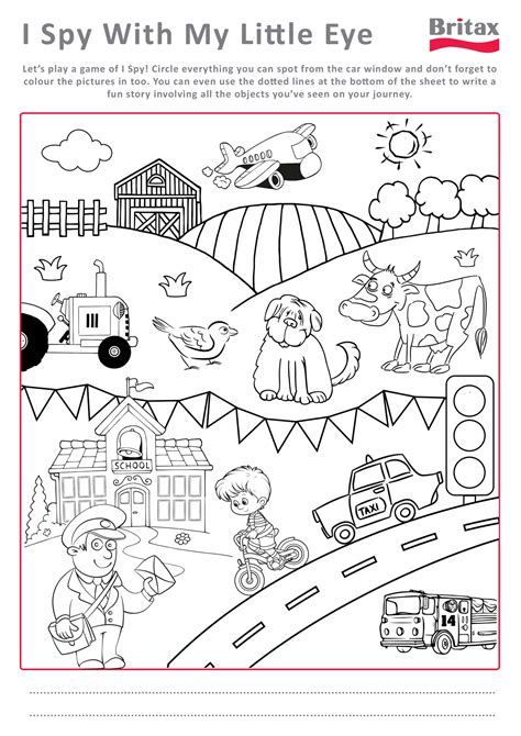 printable i spy worksheets for kids printable pages