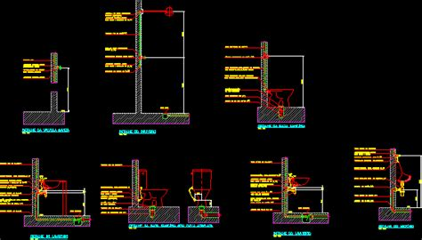details  devicesinstallation dwg section  autocad