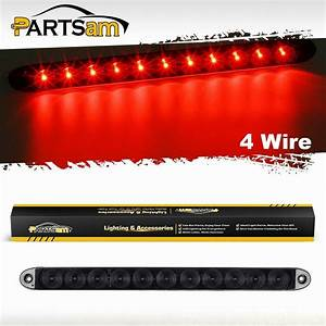 Truck Trailer Smoke  Red 11 Led Light Bar Stop Tail Brake
