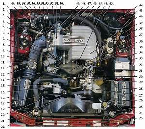 Fox Body Mustang Engine Compartment Identification