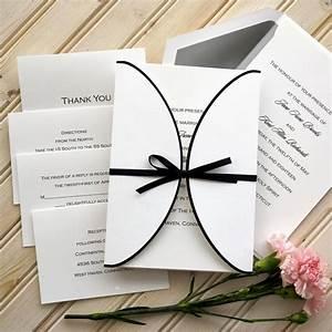ribbon wedding invitation set raised thermography With formal wedding invitations with ribbon