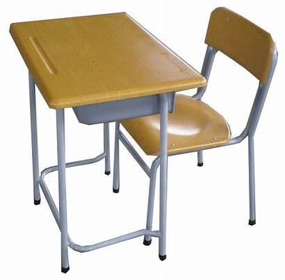 Clipart Table Library Desk Desks Chairs Clip