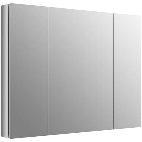 surface mount medicine cabinet lowes shop kohler verdera 40 in x 30 in aluminum metal surface