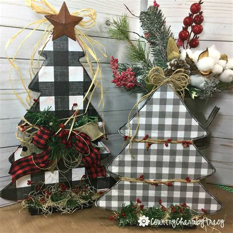 diy dollar store christmas trees country charm  tracy