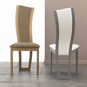chaise de salle a manger contemporaine en tissu et bois With salle À manger contemporaine avec chaise contemporaine cuir salle À manger