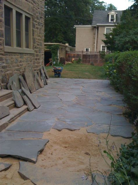 slate for backyard stone patio future projects parks pinterest