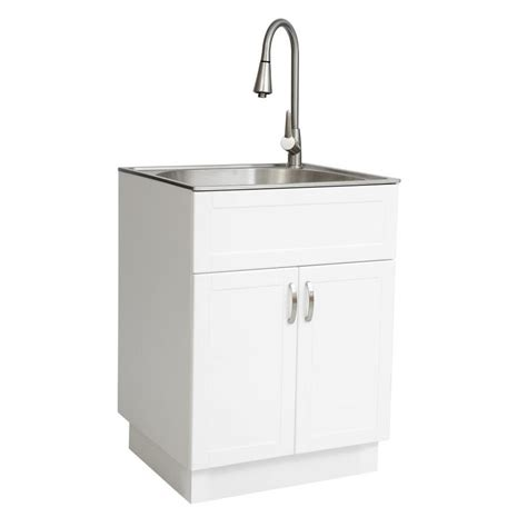 Stainless Steel Laundry Sink by Westinghouse 21 34 In X 24 17 In 1 Basin White