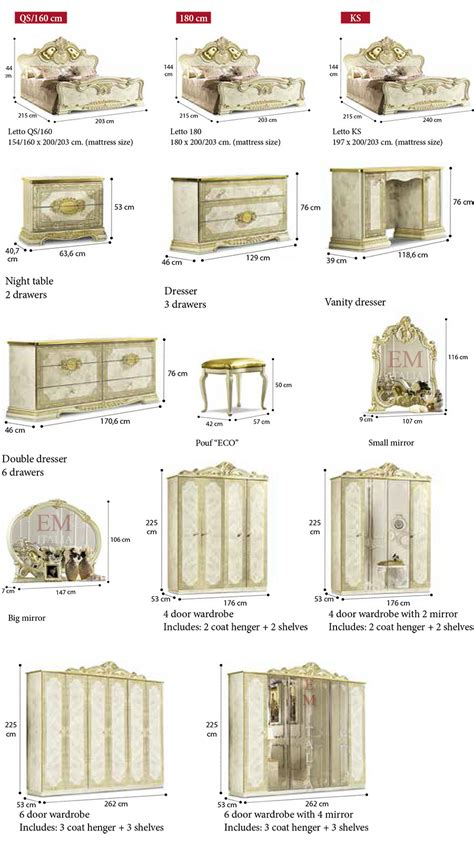Bedroom Items by Leonardo Classic Italian Bedroom Furniture Set Em Italia