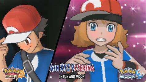 sun and moon trainer ash vs serena anime