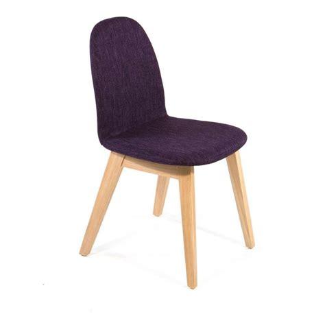 chaises 4 pieds chaise scandinave en bois et tissu puccini mobitec 4