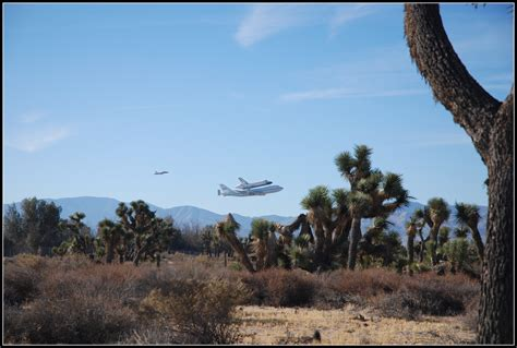 Shuttle Endeavor Over Palmdale, CA
