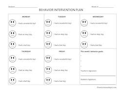 preschool behavior interventions behavior intervention plan behavior plan free behavior 350