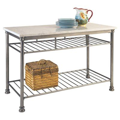 orleans marble kitchen island home styles orleans prep table with marble top reviews 3810