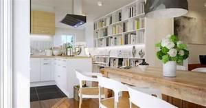 delimiter une cuisine ouverte sur le salon With creer une cuisine ouverte