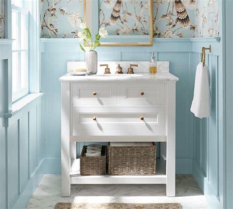 pottery barn bathroom vanity bathroom vanities the inspired room
