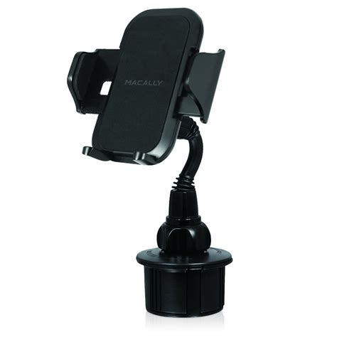 cup holder phone mount macally mcupmp cup holder mount keeps your iphone 6 within