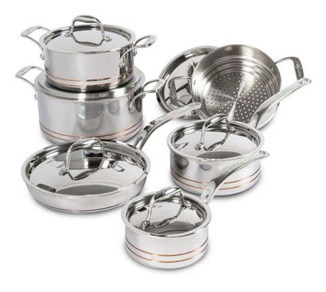 lagostina  ply copper clad cookware set  pc canadian tire lagostina cookware set