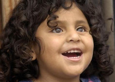 smiling blind girl character inspiration children