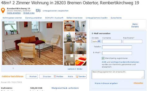 2 3 Zimmer Wohnung Bremen by Wohnungsbetrug 48m 178 2 Zimmer Wohnung In