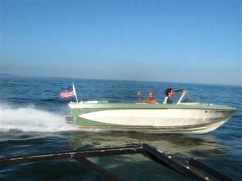 Glastron Boats Vintage by Vintage 1967 Classic Glastron V174 Crestflite Flyby