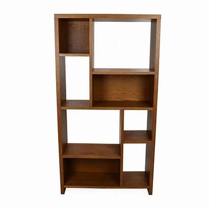 Geometric Elm West Unit Shelving Wood Bookshelf
