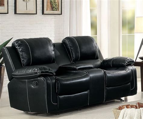 Dual Glider Reclining Loveseat by Oriole Black Glider Reclining Loveseat From