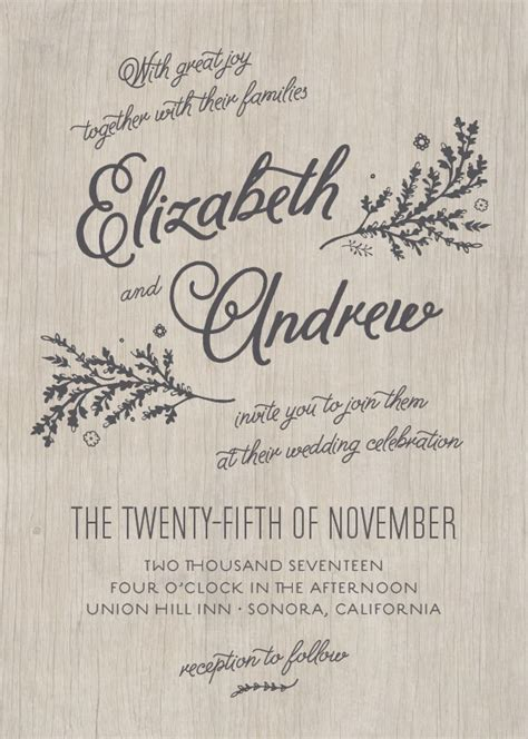 inspired   wedding invitation styles