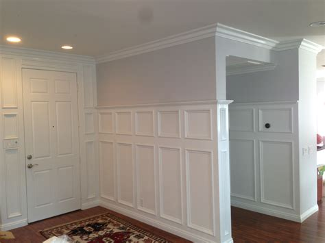 Panel Molding Wainscoting by Decorating Gorgeous Wainscoting Lowes With Stunning