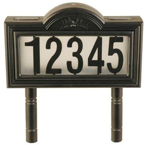 solar powered house numbers solar powered address numbers