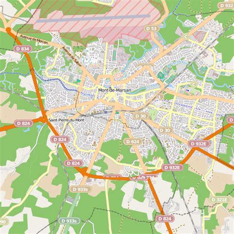 plan mont de marsan carte ville mont de marsan