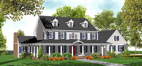 classic country farmhouse plan dm architectural