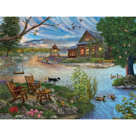 Другие игры от разработчика puzzle maniacs. Coffee by the Lake 550 Piece Jigsaw Puzzle | Spilsbury