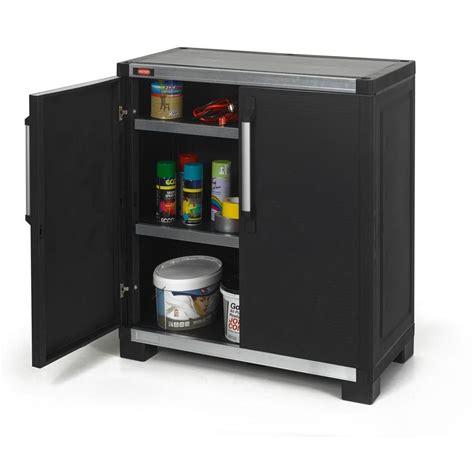 Garage Cabinets B Q by Keter Wide Xl 35 In X 39 In Freestanding Plastic Utility