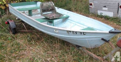 Used Aluminum Fishing Boats New York by 12 Foot Aluminum Fishing Boat And Trailer For Sale In