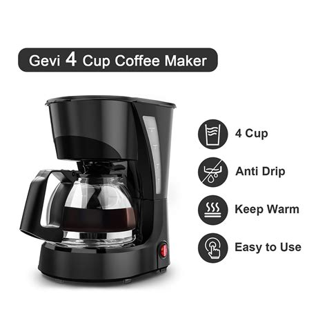 You want coffee two ways and you want it fast. 4 Cup Small Drip Coffee Maker, Precision Coffeemaker with ...