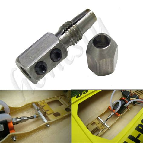 stainless collet coupler  mm motor shaft mm flex cable rc boat ebay