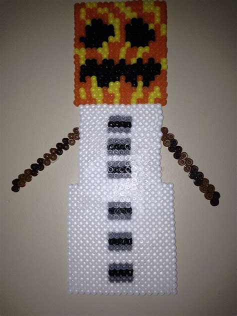 snow golem minecraft perler bead  boy pinterest