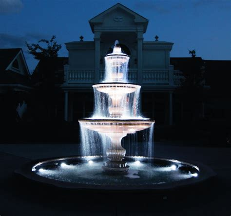 25 cool outdoor water fountains with lights pixelmari