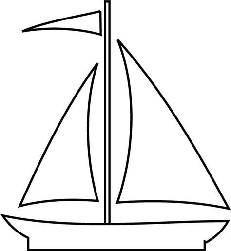 sailboat template imprime le dessin colorier de bateau