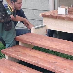 Fabriquer Son Escalier : fabriquer escalier et garde corps pour le patio en ~ Premium-room.com Idées de Décoration